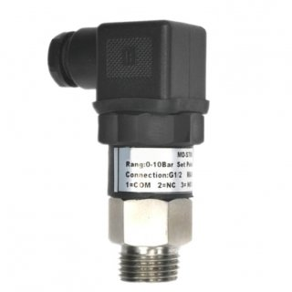 Adjustable pressure switch double contact NC / NO, 250V 3A